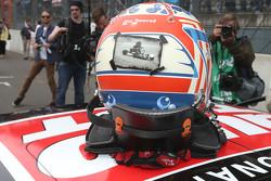 Helmet of Timo Scheider, Audi Sport Team Phoenix Audi RS 5 DTM