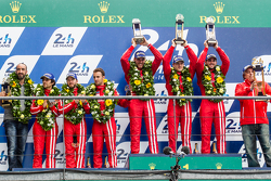 LMP1 privateer podium: class winners #13 Rebellion Racing Rebellion R-One: Dominik Kraihamer, Daniel Abt, Alexandre Imperatori, second place #12 Rebellion Racing Rebellion R-One: Nicolas Prost, Nick Heidfeld, Mathias Beche