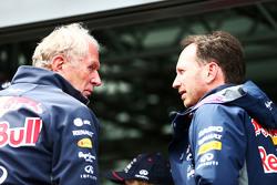 Dr Helmut Marko en Christian Horner, Red Bull Racing