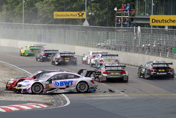 Miguel Molina, Audi Sport Team Abt Audi RS 5 DTM and Lucas Auer, ART Grand Prix Mercedes-AMG C63 DTM