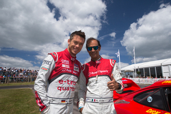 Audi drivers Andre Lotterer and Emanuele Pirro