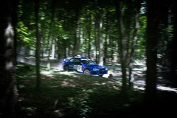 Subaru on the rally course