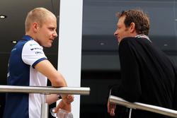 Valtteri Bottas, Williams with Alex Wurz, Williams Driver Mentor / GPDA Chairman.