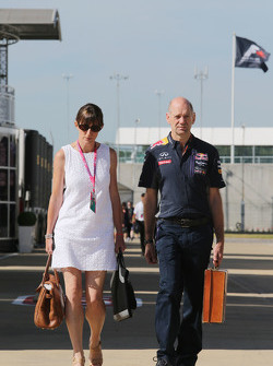Adrian Newey, Red Bull Racing Chief Technical Officer with his wife Marigold Newey