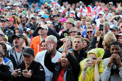 Fans at the post race concert