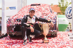 Winning co-driver Julien Ingrassia, Volkswagen Motorsport