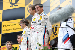 Podium: second place Augusto Farfus, BMW Team RBM and winner  Antonio Felix da Costa, BMW Team Schnitzer and third place Bruno Spengler, BMW Team MTEK