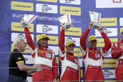GTE podium: second place Duncan Cameron, Matt Griffin, Aaron Scott