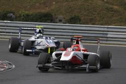 Esteban Ocon, ART Grand Prix leads Jimmy Eriksson, Koiranen GP