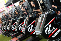 Drivers compete on the Playstation platform