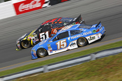 Clint Bowyer, Michael Waltrip Racing Toyota and Justin Allgaier, HScott Motorsports Chevrolet