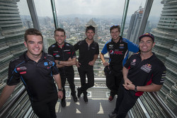 Scott McLaughlin, Garry Rogers Motorsport and Todd Kelly, Nissan Motorsports and Will Davison, Erebus Motorsport and Chaz Mostert, Prodrive Racing Australia and Craig Lowndes, Triple Eight Race Engineering visit the Petroas Towers in Kuala Lumpur, Malaysia, August 05, 2015.