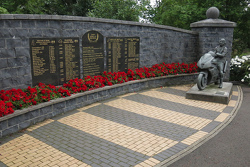 Robert and Joey Dunlop Memorial in Ballymoney, North Ireland
