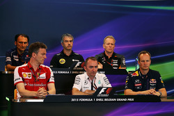 The FIA Press Conference,): Giampaolo Dall'Ara, Sauber F1 Team Head of Track Engineering; Nick Chester, Lotus F1 Team Technical Director; Andrew Green, Sahara Force India F1 Team Technical Director; James Allison, Ferrari Chassis Technical Director; Paddy