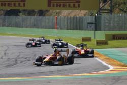 Alexander Rossi, Racing Engineering leads Jordan King, Racing Engineering