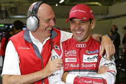 Dr. Wolfgang Ullrich, head of Audi Sport with Benoit Tréluyer, Audi Sport Team Joest
