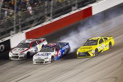 Austin Dillon, Richard Childress Racing Chevrolet, Trevor Bayne, Roush Fenway Racing Ford and Matt Kenseth, Joe Gibbs Racing Toyota