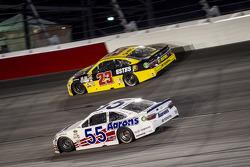 Jeb Burton, BK Racing Toyota and David Ragan, Michael Waltrip Racing Toyota