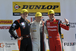 Race 1, Round 22 Podium 1st Mat Jackson, 2nd Gordon Shedden, 3rd Aron Smith