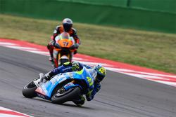 Aleix Espargaro, Team Suzuki MotoGP and Claudio Corti, Forward Racing Yamaha