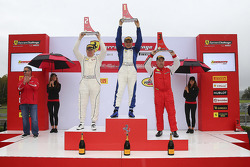 Coppa Shell podium: winner Jean-Claude Saala, second place Dan O'Neal