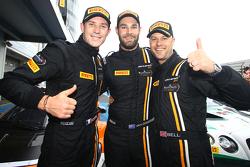 Winners Shane van Gisbergen, Rob Bell, Kevin Estre, Von Ryan Racing