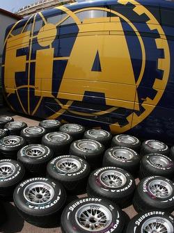 Bridgestone Tyres and an FIA Truck