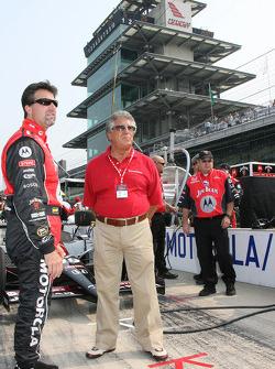 Michael Andretti and Mario Andretti