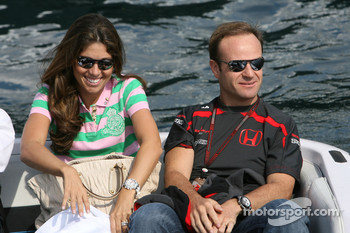 Rubens Barrichello, Honda Racing F1 Team and his wife Silvana
