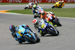 John Hopkins and Valentino Rossi