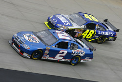 Kurt Busch and Jimmie Johnson