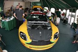 Aston Martin paddock area