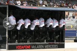 McLaren on the pit wall