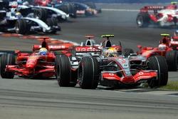 Lewis Hamilton, McLaren Mercedes, Felipe Massa, Scuderia Ferrari, F2007