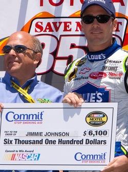 Jimmie Johnson gets a big check