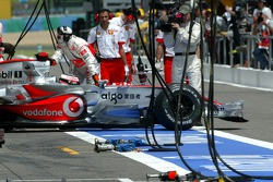 Fernando Alonso, McLaren Mercedes stops during the qualifying because of technical problem