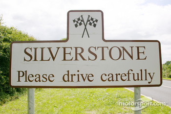 The Silverstone road sign