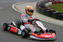 Lewis Hamilton, McLaren Mercedes with young British Katers, Daytona Kart Centre, Milton Keynes