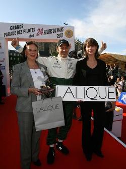 Christophe Bouchut accepts GT pole winner award