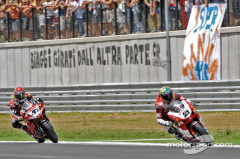 Troy Bayliss and Noriyuki Haga