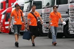 Adrian Sutil, Spyker F1 Team and Markus Winkelhock, Spyker F1 Team