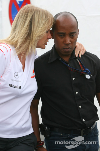 Anthony Hamilton father of Lewis Hamilton, McLaren Mercedes after Lewis had crashed