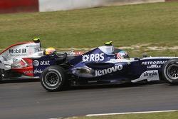 Lewis Hamilton, McLaren Mercedes and Alexander Wurz, Williams F1 Team