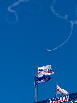 Sky Divers make their way down to Mazda Raceway Laguna Seca