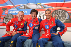 GT2 pole winner Gianmaria Bruni with AF Corse teammembers Stéphane Ortelli and Rui Aguas