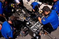Champ Car team work on car
