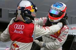 Race winner Martin Tomczyk, Audi Sport Team Abt Sportsline, congratulates Alexandre Premat, Audi Sport Team Phoenix, who let him pass just before the finish, to score maximum points for the championship
