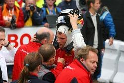 Dr. Wolfgang Ullrich, Audi's Head of Sport, talking to Martin Tomczyk, Audi Sport Team Abt Sportsline