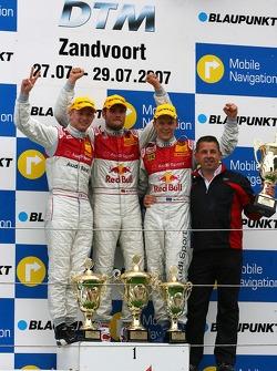 Podium: Martin Tomczyk, Audi Sport Team Abt Sportsline, Alexandre Premat, Audi Sport Team Phoenix, Mattias Ekström, Audi Sport Team Abt Sportsline