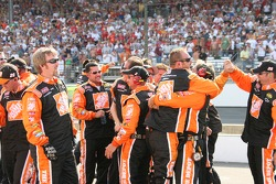 Home Depot Chevy crew members celebrate win